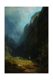 In the Alpine High Valley (Landscape with Mt Wendelstei)  C 1871