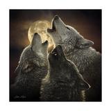 Wolf Trinity Reproduction d'art par Collin Bogle