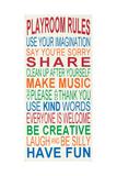 Playroom Rules Reproduction d'art par Erin Deranja