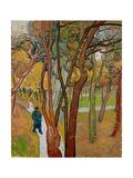 The Garden of Saint Paul's Hospital (The Fall of the Leave), 1889 Giclée par Vincent Van Gogh