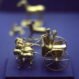 Gold Model Chariot from the Oxus Treasure  Achaemenid Persian  5th-4th Century BC