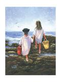 Charlot à la plage Reproduction d'art par Vickie Wade