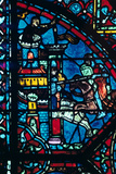 Battle for a City  Stained Glass  Chartres Cathedral  France  C1225
