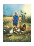 Country Chicks Reproduction d'art par Vickie Wade