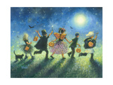 Halloween Prowlers Reproduction d'art par Vickie Wade