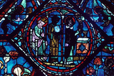 Mass of St Giles  Stained Glass  Chartres Cathedral  France  1194-1260
