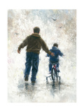 First Bike Ride Reproduction d'art par Vickie Wade