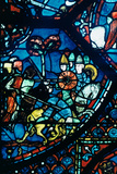 Battle of Sahagun  Stained Glass  Chartres Cathedral  C1225