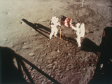 Armstrong and Aldrin Unfurl the Us Flag on the Moon  1969