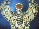 Pectoral Showing the God Horus  Ancient Egyptian  18th Dynasty  C1325 Bc