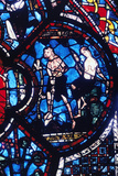 Adam and Eve  Stained Glass  Chartres Cathedral  France  1205-1215