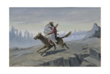 Ivan Tsarevich Riding the Gray Wolf  End of 1870S-Early 1880S