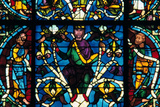 Prophet  Stained Glass  Chartres Cathedral  France  1145-1155