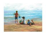 Three Little Beach Boys I Reproduction d'art par Vickie Wade