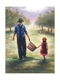 Dads Helper Reproduction d'art par Vickie Wade