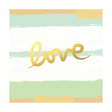 Love Stripes Mint and Gold