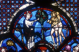 The Good Samaritan Window  Chartres Cathedral  France  13th Century