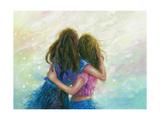Big Sister Hug Reproduction d'art par Vickie Wade