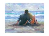 Beach Lovers I Reproduction d'art par Vickie Wade