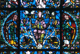 Virgin and Prophets  Stained Glass  Chartres Cathedral  France  1194-1260