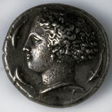 Silver Tetradrachma from Syracuse  5th-4th Century Bc