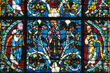 King Solomon  Stained Glass  Chartres Cathedral  France  1145-1155