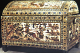 Painted and Inlaid Coffer from the Treasure of Tutankhamun  Ancient Egyptian  C1325 Bc