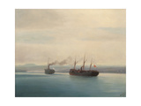 Capture of the Turkish Troopship Mersina by the Steamer Russia on 13 December 1877  1877