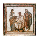 Virgil and the Muses  Roman Mosaic from Sousse  Tunisia  3rd Century Ad