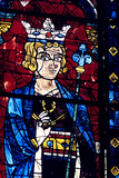 Solomon  Stained Glass  Chartres Cathedral  France  1194-1260