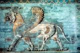 Griffin-Lion Relief in Glazed Brickwork, Achaemenid Period, Ancient Persia, 530-330 Bc Papier Photo