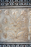 Marble Carving of Formalised Lily  Taj Mahal  Agra  India  17th Century
