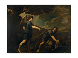 The Angel and Tobias with the Fish, C. 1640 Giclée par Andrea Vaccaro