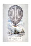 Hot Air Balloon Ascending over Surrey Zoological Gardens  Southwark  London  1838