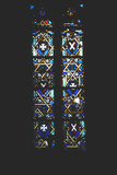 Star of David in Stained Glass Church Window  Barcelona  Spain