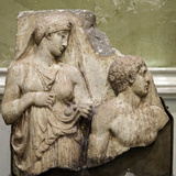 Heracles in the Garden of the Hesperides  Fragment of a Relief  Early 2nd Century
