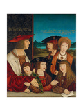 Portrait of Emperor Maximilian I with His Family  1516-1520
