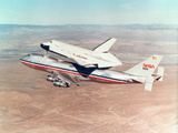 Space Shuttle Orbiter Mounted on Top of a Boeing 747 Carrier Aircraft  1977