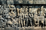 Relief Showing Scene from a Sutra  Barabudur  Java  C750-850