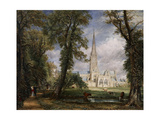 Salisbury Cathedral from the Bishop's Garden  1826