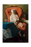 Pug Dog in an Armchair  1857