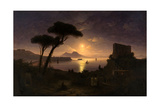 The Bay of Naples at Moonlit Night  1842