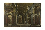 Interior of the Basilica of Saint Peter in Rome  before 1742