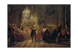 Flute Concert with Frederick the Great in Sanssouci  1850-1852