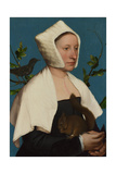 A Lady with a Squirrel and a Starling (Anne Lovell)  C 1527
