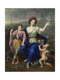 The Marquise De Seignelay and Two of Her Sons  1691