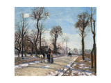 Route De Versailles  Louveciennes  Winter Sun and Snow  C 1870