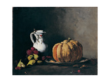 Still Life with Pumpkin  Plums  Cherries  Figs and Jug  Ca 1860