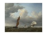 A Dutch Ship and Other Small Vessels in a Strong Breeze  1658