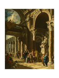 Alexander the Great Cutting the Gordian Knot  Ca 1718-1719